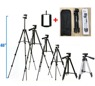 "46"" Professional Camera Tripod Stand Holder Mount for Mobile Phone Universal"