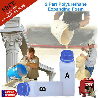 2 Part (2 x 500ml) Liquid Polyurethane Expanding Foam Kit 1kg Density Equal Part