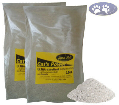 30 Liter LyraPet Cats Power ULTRA excellent Katzenstreu Babypuderduft Klumpstreu