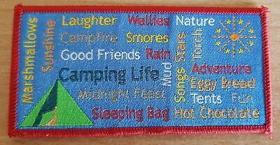 NEW Fun badge Camping life