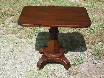 Antique Empire Solid Mahogany Work Table Entry Stand End Table