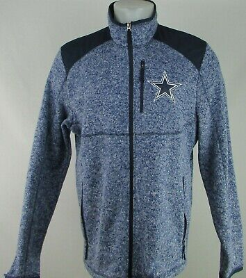 Dallas Cowboys NFL Men's Blue Full-Zip Long Sleeve With Zip Pockets