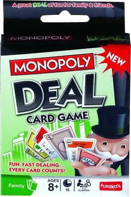 New Monopoly Deal Card Game Fun, Fast Dealing Ages 8+, 2-5 Players Luck Changing