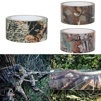 AU_ FX- 1Pc 10M Roll Outdoor Camo Hunting Waterproof Camouflage Stealth Duct Tap