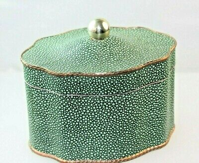 English Brass & Shagreen Tea Caddy Canister