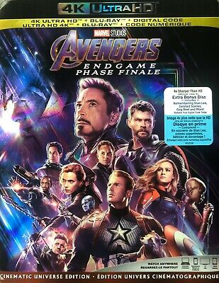 AVENGERS ENDGAME 4K ULTRA HD & BLURAY & DIGITAL SET with Robert Downey Jr.