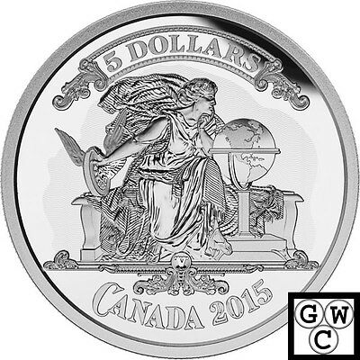 2015 'Canadian Banknote Vignette' Proof $5 Silver Coin .9999 Fine (16965)