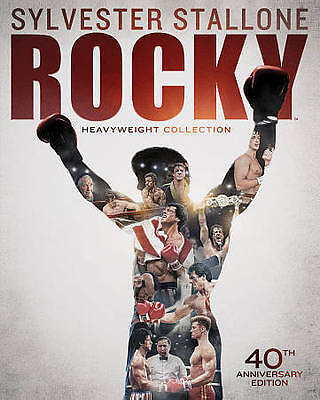 Rocky: Heavyweight Collection (Blu-ray Disc, 2014, 6-Disc Set) NEW
