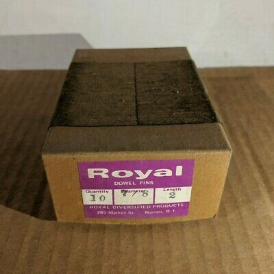 "Pack of 10 - 7/8"" x 2"" Royal Dowel Pins Alloy Steel"