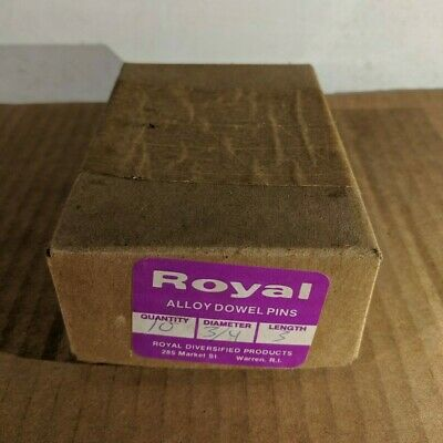 """Pack of 10 - 3/4"""" x 3"""" Royal Dowel Pins Alloy Steel"""