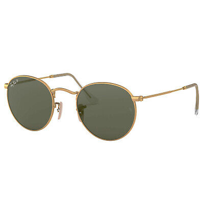 Ray-Ban Polarized RB3447-112/58-50 Gold Round Sunglasses