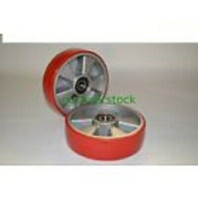 Brand New Pallet Jack Steer Wheels With Bearings Poly Tread A Pair