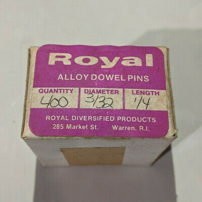 "Pack of 400 - 3/32"" x 1/4"" Royal Dowel Pins Alloy Steel"