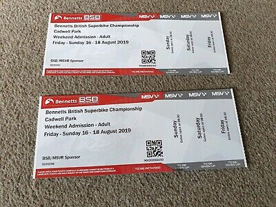 British superbike Tickets X2 For friday / Saturday/ sundayCADWELL PARK 16-18th