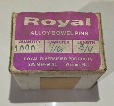 """Pack of 1000 - 1/16"""" x 3/4"""" Royal Dowel Pins Alloy Steel"""