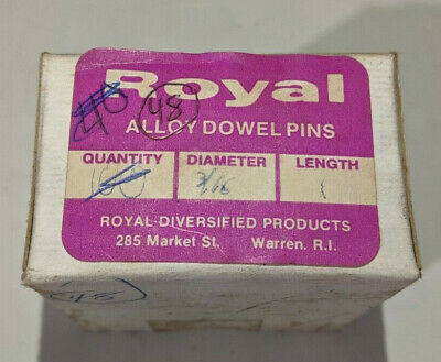 """Pack of 100 - 3/16"""" x 1"""" Royal Dowel Pins Alloy Steel"""