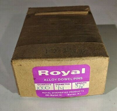 """Pack of 1000 - 1/4"""" x 3/8"""" Royal Dowel Pins Alloy Steel"""