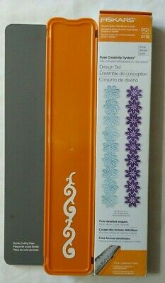 Fiskars Fuse Creativity System Design Border Set 0121 & 0116 Die-cut Letterpress