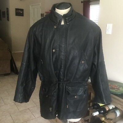 6b7f52a17 ECHTES LEATHER LEATHER Jacket Mens 38 Unworn Punk Ramones - $75.00 ...