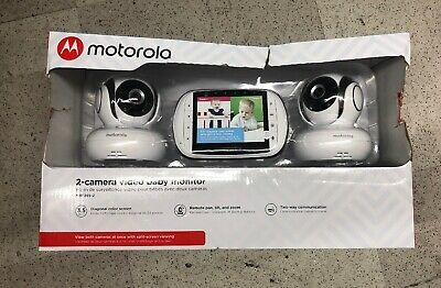"Motorola MBP36S-2 Video Baby Monitor with 2 Cameras, 3.5"" Color Screen, Remot..."