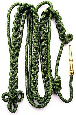 211-White White Shoulder Cord Citation With Brass Tip