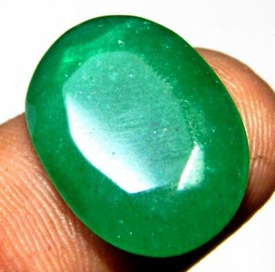 Dyed Faceted Beryl Emerald Wonderful  Loose Gemstone  8 ct 17x13mm F197