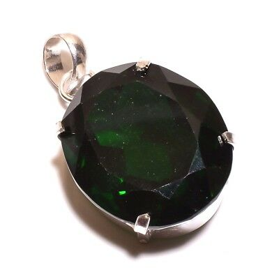 Faceted Emerald .925 Silver Charming Pendants Jewelry JB432-JB600