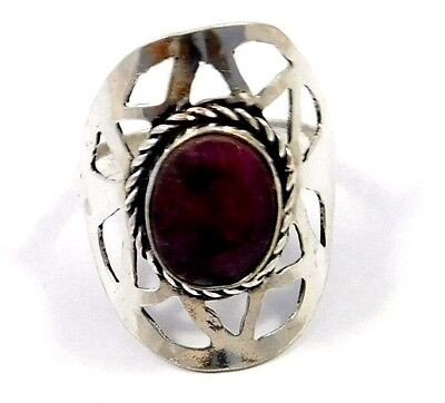 Dyed Ruby .925 Silver Awesome Ring Jewelry Ring Size 8 JC7956