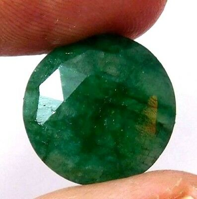 A++ Dyed Faceted Beryl Gemstone 12 ct 15mm AQ684