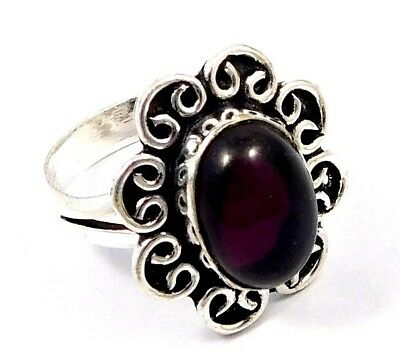 Amethyst .925 Silver Awesome Carving Ring Jewelry Ring Size 9.25 JC7769