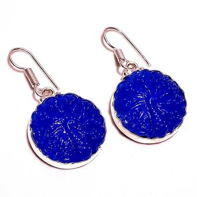 Chalcedony Carving .925 Silver Beautiful Earrings Jewelry  R2080- R2121