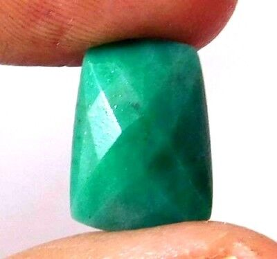 AAA Dyed Faceted Emerald Loose Gemstones 7 CT 13X9mm..  AQ685