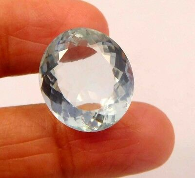 AAA 15 ct Awesome Treated Faceted Aquamrine Cab Loose Gemstones RM13865