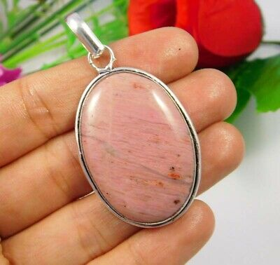 AAA Pink Calcite .925 Silver Plated Handmade Pendant Jewelry JC3718