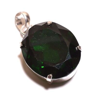 AAA Faceted Emerald .925 Silver Charming Pendants Jewelry JB432-JB600