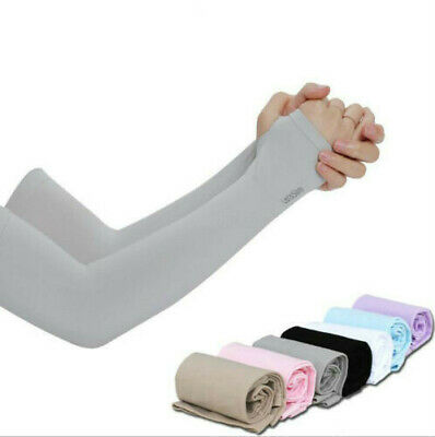 Cooling Arm Sleeves Cover Sports UV Sun Protection Outdoor