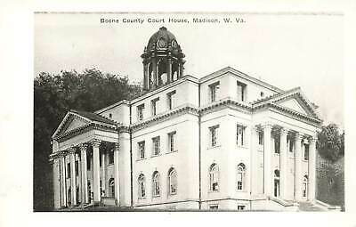 VINTAGE RPPC BOONE County Courthouse Madison West Virginia Real Photo  Postcard