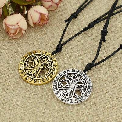 Vintage Norse Life Tree Pendant Viking Necklace Charms Women Men Jewelry Gift
