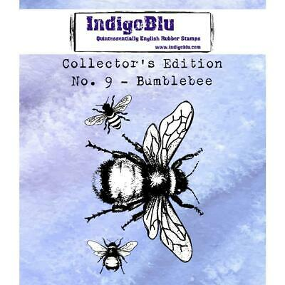 """IndigoBlu Collectors Edition Cling Mounted Stamp 2""""X2"""" - Bee #9"""