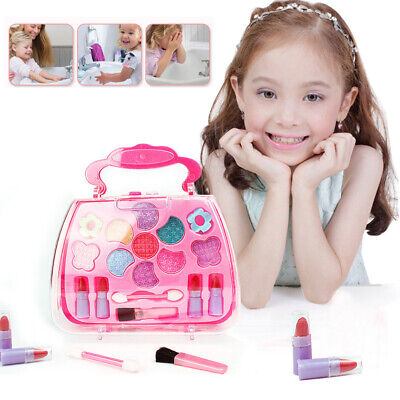 Washable Pretend Kid Make Up Gift Set NON-TOXIC Makeup Case Box Toys for Girls