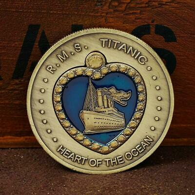 Titanic Heart of the Ocean Bronze Coins Commemorative Coin Gift F3K5 Collec W9B6