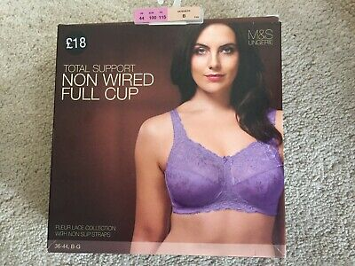 Marks & Spencer Total Support Non Wired Full Cup Bra Soft Violet 44B