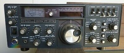 YAESU FT-107M Solid State HF Transciever Clean Working Condition