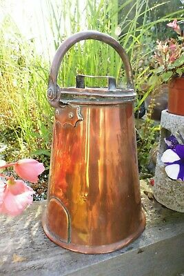 Georgian copper Milk can antique RARE large Country House
