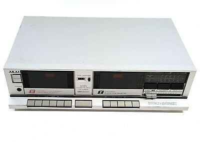 AKAI HX-A351W Stereo Double Cassette Deck 220v Japan Auto Tape Selector #644