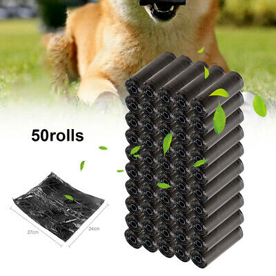 1000 DOGGY BAGS Portable Pet Dog Cat Poo Poop Pooper Scooper Waste Bag Toilet
