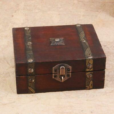 New Vintage Antique Wooden Storage Box Gift Storage Small Jewelry Box Hot S O9U4