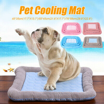 Pet Dog Puppy Cat Cooling Mat Cushion Bed Summer Chilly Heat Relief Cushion Pad