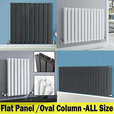 Horizontal Designer Radiator Central Heating Flat Panel Double Single Anthracite