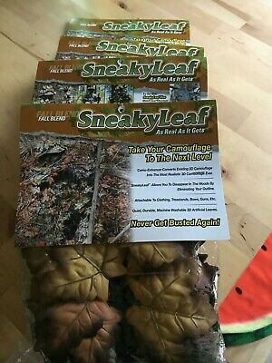 4 packets of Rare Chinese Sneaky Leaves for Ghillie Suit Bnip